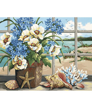 Dimensions Paint By Number Kit Seaside Still Life