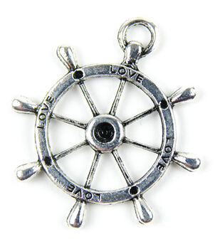 Midwest Design Paracord Silver LOVE Nautical Charm