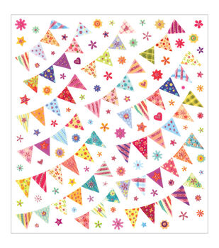 Multicraft Imports Pennant Banners Dazzle Clear Stickers