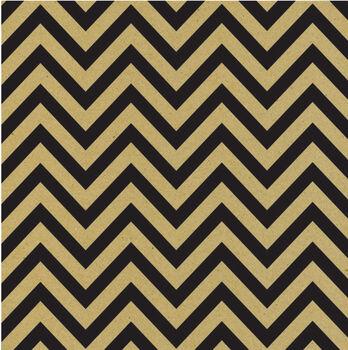 Canvas Corp Printed Single-Sided Black  & Kraft Chevron Cardstock