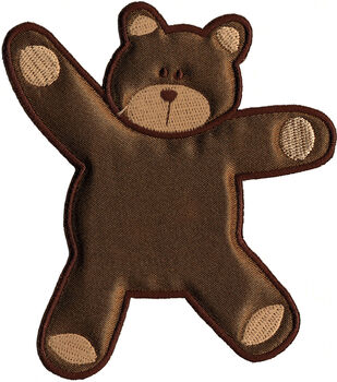 "Wrights Especially Baby Iron-On Appliques-Brown Bear 4""X3-5/8"" 1/Pkg"