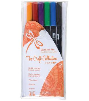 Tombow Dual Brush Pen Set – 6PK, Jewel