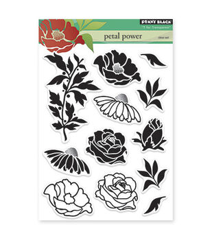 """Penny Black Clear Stamps 5""""X6.5"""" Sheet -Petal Power"""