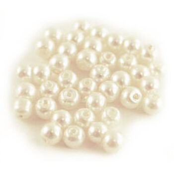 Multicraft Imports Glass Fired Pearl Beads