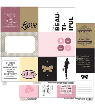 """Bits and Pieces - All Dolled Up Double-sided Heavy Weight Paper 12""""x12"""""""