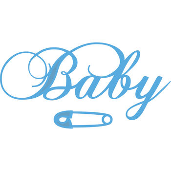 Marianne Designs Creatables Die Baby Text & Safety Pin
