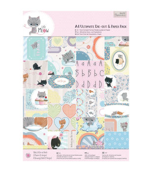 Papermania Little Meow Ultimate Die-Cut A4 Paper Pack