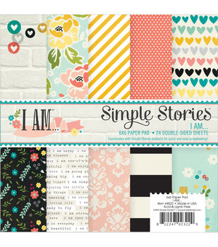 Simple Stories I Am Paper Pad 6''x6''