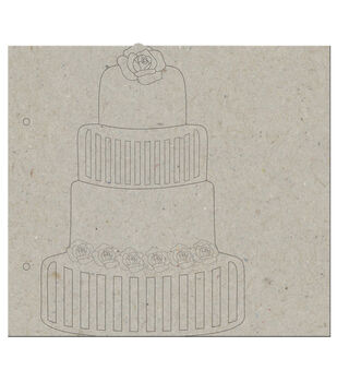 "Marie Antoinette Die-Cut Grey Chipboard Album 8""X9""-Wedding Cake: Cover & 5 Pages"