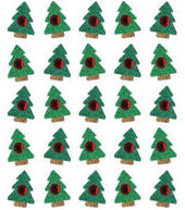 EK Success Dimensional Stickers-Xmas Tree Repeats