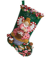 Bucilla Cupcake Angel Stocking Felt Applique Kit-18inches Long