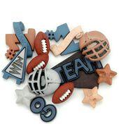 Jesse James Dress It Up Sports Embellishments-Football