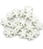 Jesse James Dress It Up Snowflakes Embellishments-Snow.