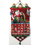 Must Be Santa Advent Calendar Felt Applique Kit-13inchesx25inches