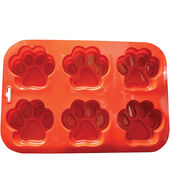 Paw Silicone Pan 9inchesX13inches-6 Cavity 1inchesX4inches