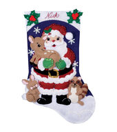 Forest Friends Stocking Felt Applique Kit-16inches Long