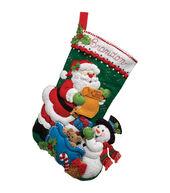 Bucilla Felt Applique Kit Santas List Stocking