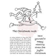 Xmas Rush -clear Stamp 5.75x4