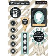 Teresa Collins Memorabilia Layered Stickers