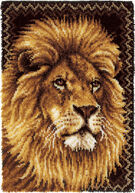 Caron Wonderart Latch Hook Kit Lion