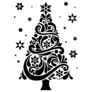 Darice Embossing Folder Christmas Tree