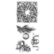 Inkadinkado Christmas Clear Stamps Evergreen Holiday