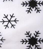 Sew Sweet Collection Flocked Snowflake Orgz Black On White