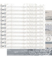 Ruby Rock-It Year In Review Timeline Double-Sided Cardstock