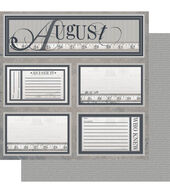 Ruby Rock-It Year In Review August Double-Sided Cardstock