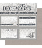 Ruby Rock-It Year In Review December Double-Sided Cardstock