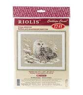 White Owl Counted Cross Stitch Kit-17.75inchesX13.75inches 1