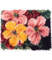 Wonderart Latch Hook Kit 15inchesX20inches-Brilliant Blossoms