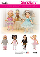 Simplicity Pattern 1243OS One Size -Doll Clothes