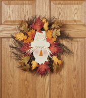 Fall For All Scarecrow, Grapevine  and  Leaves Wreath Multi�