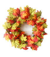 Fall For All Maple Leaves Spiral Vine Wreath�