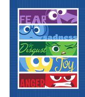 Disney Inside Out Emotions 48inches No Sew Throw