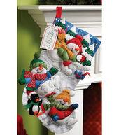 Bucilla® 18 Felt Applique Kit-Snow Fun Stocking