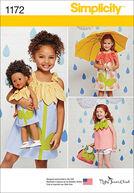 Simplicity Pattern 1172A 3-4-5-6-7--Children