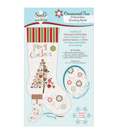 Christmas Stocking Panel For Embroidery-Ornamental Tree