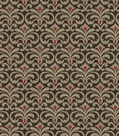 Sku 14438378 Eaton Square Upholstery Fabric Tracer Chocolate Cherry