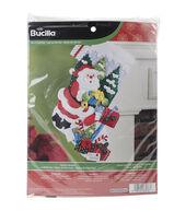 Bucilla Santas Mailbox Stocking Felt Applique Kit