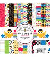 School -school Paper Pad 6x6