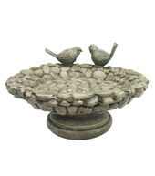 In The Garden Cobble Stone Birdbath