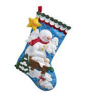 Bucilla® 18inches Stocking Felt Applique Kit-Snow Angel