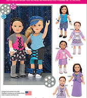 Simplicity Patterns Us1087Os-Simplicity 18 Doll Clothes-One Size