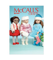Mccall Pattern M7300-Osz-Clothes, Accessories, Stocking And Tree For 18 Doll-One