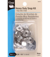 Dritz Heavy Duty Silver Snap Kit 7pcs Size 24