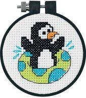 Learn-A-Craft Playful Penguin Cntd X-Stitch-3X3