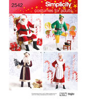 Simplicity Pattern 2542-Adult Christmas Costumes