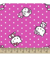 Sanrio Hello Kitty Print Fabric-Dots Poplin
